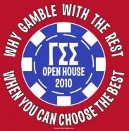 Great idea for Gamma Sigma Sigma recruitment! Why gamble with the rest when you can choose the best?! lol