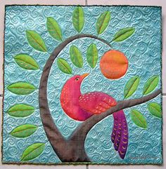 bird of paradise  by Judy Coates Perez. composition and quilting pattern.