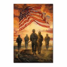 I Love America, God Bless America, Painting Prints, Wall Art Prints, Military Art, Military Humor, Military Veterans, Military Life, Military Flags