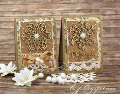 Płaskie kartki świąteczne / Flat Christmas cards