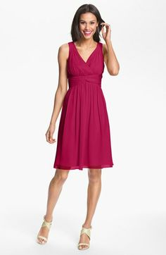 Donna Morgan 'Jessie' Twist Silk Chiffon Dress available at #Nordstrom - comes in gray