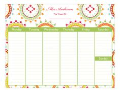 Polka Dot Design | Ornate Wreaths #Calendar Pad