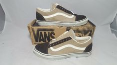 a5ddf6cb5a Details about Vintage Vans OLD SKOOL shoes STEEL BLUE SK8 HI made in USA  Mens 7 NOS BMX NOS