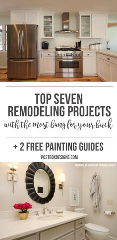 7 Remodeling Updates that Get You the Most Bang for Your Buck, Update #5: Your Bathroom, by Postbox Designs. Pin Now and Save for Later!,