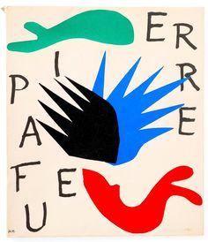 Henri Matisse - Pierre a Feu book, pretty decent condition, at auction