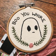 Boo You Whore - Hand Embroidery 3'' - Mean Girls by SewciopathicTendency on Etsy