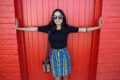 Eco Warrior Princess wearing Synergy Organic Clothing, Nearfar skirt  #ethicalfashion