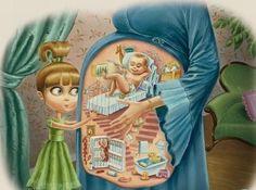 Детский взгляд на мир вокруг в иллюстрациях Пьеретты Диаз