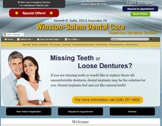 #Winston-Salem Dental Care | #CustomWebsite #ResponsiveWebsite