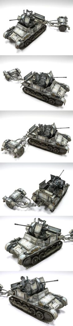 German Flakpanzer 1 1/35 Scale Model