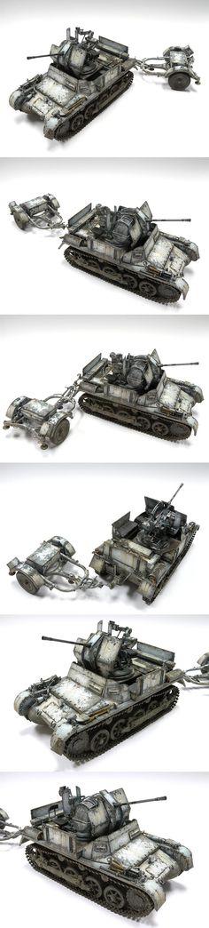 Flakpanzer 1 1/35 Scale Model