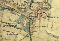 Gelände der Sarg Werke in Liesing 1872 - F. A. Sarg's Sohn & Co. – Wikipedia Vienna Map, Antique Maps, Vintage World Maps, Trench, My Son, Casket, Old Maps