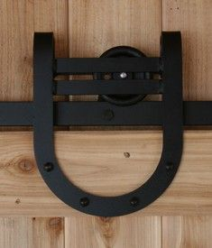 Great barn door hardware - could be used for interior doors.