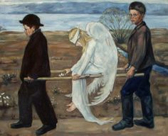 The Wounded Angel (Finnish: Haavoittunut enkeli) (1903) is a painting by Finnish symbolist painter Hugo Simberg. It is one of the most recognizable of Simberg's works, and was voted Finland's national painting in a vote conducted by the Ateneum Art Museum in 2006.