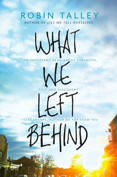 Cover Reveal: What We Left Behind by Robin Talley  -On sale October 27th 2015 by Harlequin Teen  -What We Left Behind follows a teen couple—Gretchen, who identifies as a lesbian, and Toni, who identifies as genderqueer—as they struggle to stay together during their first year in college, despite the growing rift caused by distance and Toni's shifting gender identity.