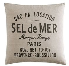 h cushion > conveying France feeling with material of cotton, and French-inspired typography... semi-modern (not too vintage inspired)... interesting for this  #logo design project ...