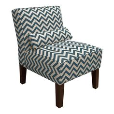 Zig Zag Accent Chair in Navy. Just might buy two!