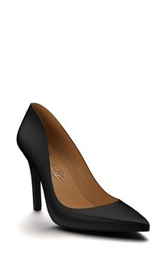 Shoes of Prey Pointy Toe Leather Pump (Women) available at #Nordstrom