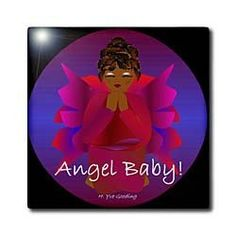 """African-American Angel Baby Girl Praying With Text - 12 Inch Ceramic Tile by Yves Creations. $22.99. Dimensions: 12"""" H x 12"""" W x 1/4"""" D. Construction grade. Floor installation not recommended.. High gloss finish. Clean with mild detergent. Image applied to the top surface. African-American Angel Baby Girl Praying With Text Tile is commercial quality. Construction grade, glossy finish tiles are produced from material clays and minerals into exceptionally reliab..."""