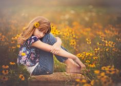 tween portrait in field...love.