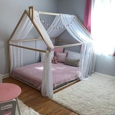 Montessori toddler beds Frame bed House bed house Wood house Kids teepee Baby bed Nursery bed Platform bed Children furniture FULL/ DOUBLE - Republic connected with Ireland in europe Toddler Bed Frame, Diy Toddler Bed, Toddler Girls, Baby Bedroom, Nursery Bedding, Kids Bedroom, Bed Platform, Diy Bed Frame, Montessori Toddler