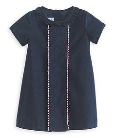 Look what I found on #zulily! Navy Scallop-Trim Charlie Dress - Infant, Toddler & Girls by bella bliss #zulilyfinds