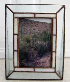 Stained Glass Picture Frame by mnflash on Etsy, $15.00