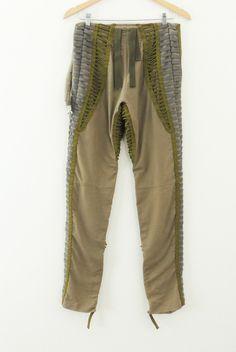 969b231ebb70 Helmut Lang 2003 khaki cotton aviator pants army air force