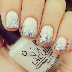 White and glitter..love!!