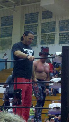 "Matt Hardy, Big Poppa Pump Scott Steiner, and Marcus ""Buff The Stuff"" Bagwell in South Boston, Va"