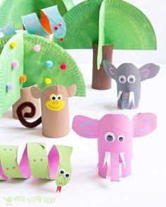 Trees for toilet tube animals