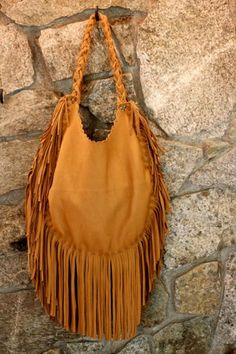 Cowgirl Dreams :: Leather Fringe Purse by BlueMountainThyme on Etsy