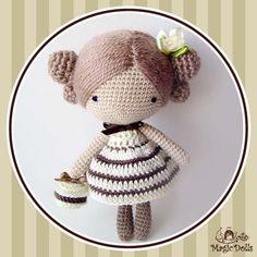 """Вязанная куколка """"Baby Magic Doll Macaron"""", ручная работа купить недорого в интернет-магазине Podaro4ek: цена, отзывы, фото."""