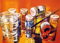 Audrey Flack, Rich Art, 1972-73, 50 x 36 in. Photorealism Mark Peet Visser Gallery ('s-Hertogenbosch, The Netherlands) www.markpeetvisser.com