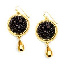 Black Chaton Gold Bezel Earrings By Becky Nunn DIY