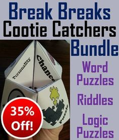This is a bundle of all of my Brain Breaks/ Brain Teasers Products as outlined below.  Students are able to have fun while keeping their minds at work at the same time!All these lessons sell individually for $4.65; as a bundle they are 35% off, for $3!1.