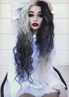 Black ombre alternative dyed hair
