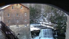 Lanterman's Mill, completed in 1846 by German Lanterman, stands 90' from the Mill Creek gorge.   It is solidly set into the sandstone cliff on one side and the waterwheel pit on the outer side of the stream.   The basement/foundation has three levels and the wooden structure of the mill has three levels.  http://youtu.be/YBCBn3oflRM http://www.pinterest.com/blockman12/youngstownohio-city-and-parks/