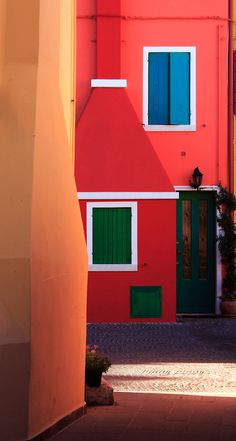 colorful houses - Caorle, Venice