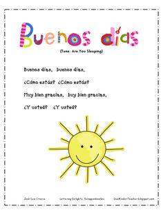 A dual language teacher's blog! Should be helpful to teach the pollitos Spanish.