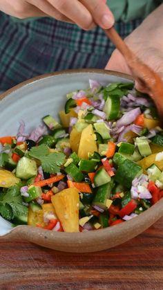 Healthy Salad Recipes, Healthy Snacks, Vegetarian Recipes, Healthy Eating, Cooking Recipes, Salad In A Jar, Salad Bowls, Summer Salads, Mexican Food Recipes