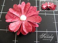 Paper flowers from scallop punch