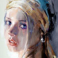 Abstract Portrait, Watercolor Portraits, Portrait Art, Watercolor Art, Figure Painting, Figure Drawing, Beautiful Paintings, Figurative Art, Female Art