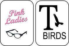grease pink ladies logo - Google Search