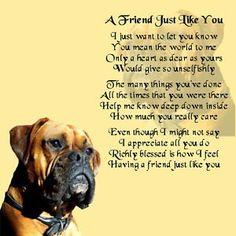Personalised Coaster - Friend Poem - Boxer Dog Design + FREE GIFT BOX | eBay