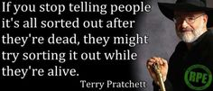 Terry Pritchett on afterlife