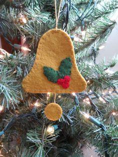 Bell Wool felt Christmas ornament