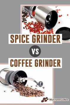 Spice grinder vs. coffee grinder: What are the differences? Can you actually use a spice grinder in place of a coffee grinder? Stainless Steel Coffee Maker, Grinding Coffee Beans, Coffee Grinders, Spice Grinder, Spices And Herbs, Drying Herbs, Brush Cleaner, Coriander, Brewing