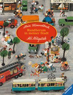 """Libri """"cerca e trova"""", """"aguzza la vista"""" e Wimmelbuch per sviluppare la capacità di osservazione dei bambini - Mein Wimmelbuch - Rundherum in meiner Stadt"""
