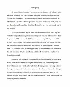 Example Of An Essay Proposal  Topics For An Essay Paper also A Level English Essay Structure  Autobiography Examples   Autobiographical Essay  Thesis Statement For Friendship Essay